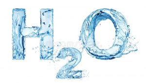 H O Water Letters Isolated White Background 146995633